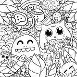 Lyckliga Forest Doodle Royaltyfri Foto