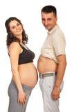 Lyckliga framtida föräldrar Arkivfoton