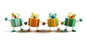 lyckliga gåvor vektor illustrationer
