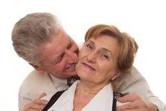 Lyckliga gammala par tillsammans Fotografering för Bildbyråer