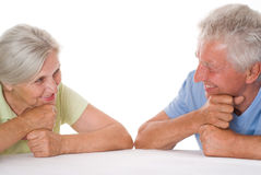 Lyckliga gammalare par Royaltyfri Foto
