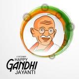 Lyckliga Gandhi Jayanti Arkivfoto
