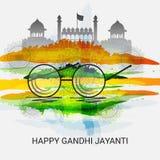 Lyckliga Gandhi Jayanti Arkivbild