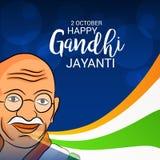 Lyckliga Gandhi Jayanti Royaltyfri Fotografi