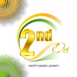 Lyckliga Gandhi Jayanti Royaltyfri Foto