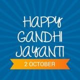 Lyckliga Gandhi Jayanti Arkivbilder