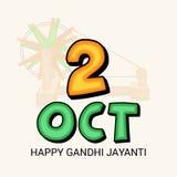 Lyckliga Gandhi Jayanti Fotografering för Bildbyråer