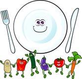 lyckliga grönsaker Arkivbild