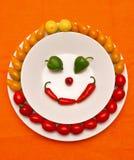 lyckliga grönsaker arkivfoto