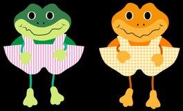 Lyckliga grodor för vektor vektor illustrationer