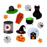 lyckliga halloween stock illustrationer