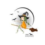 lyckliga halloween Arkivbilder