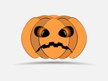 lyckliga halloween bakgrund isolerade pumpawhite Symbol för stålarnolla-lykta vektor stock illustrationer