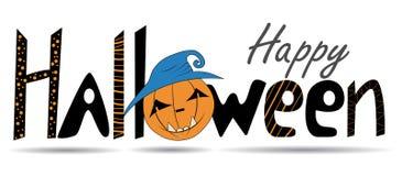 lyckliga halloween Bokstäver kalligrafi Lyckönsknings- affisch för vektor ägget för designen för bakgrundsblackclosen stekte upp  stock illustrationer