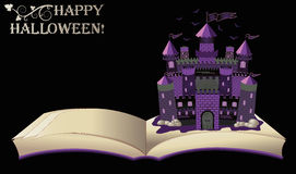 lyckliga halloween gammal bok Royaltyfri Foto