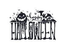 lyckliga halloween också vektor för coreldrawillustration stock illustrationer