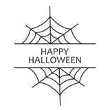 lyckliga halloween Semestra hälsningar med floret på en vit bakgrund vektor illustrationer