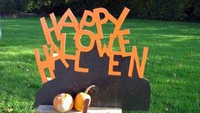 lyckliga halloween Tecken halloween lyckligt tecken Arkivbild