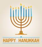 lyckliga hanukkah vektor illustrationer