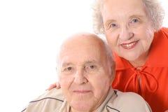 lyckliga headshotpensionärer Arkivbild