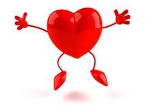 lyckliga hjärtor royaltyfri illustrationer