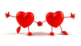 lyckliga hjärtor stock illustrationer