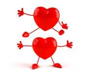 lyckliga hjärtor vektor illustrationer
