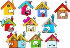 lyckliga hus Arkivfoto