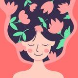 Lyckliga internationella kvinnors dag 8th mars vektor illustrationer