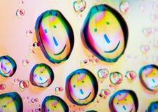 lyckliga internetsymboler Arkivfoto