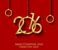 2016 lyckliga jul och bakgrund för lyckligt nytt år Royaltyfri Bild