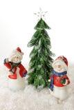 Lyckliga julSnowmen Fotografering för Bildbyråer