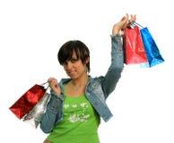 lyckliga köp för flicka Royaltyfri Fotografi
