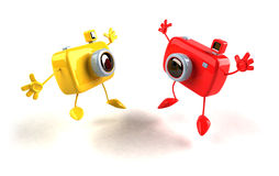 lyckliga kameror vektor illustrationer