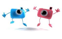 lyckliga kameror royaltyfri illustrationer