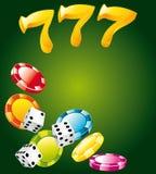 lyckliga kasinoelement Arkivfoton