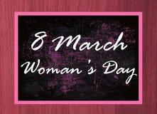 8 lyckliga kvinnas för marsch dag Arkivfoton