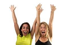 Lyckliga kvinnor Arkivfoto