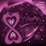 Lyckliga kvinnors dag! vektor illustrationer