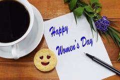 Lyckliga kvinnors dag marsch för th 8 Royaltyfria Foton