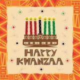 lyckliga kwanzaa Arkivbilder