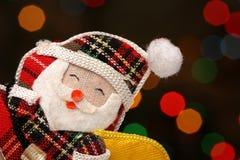 lyckliga lampor santa för bakgrundsjul Royaltyfri Bild
