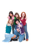 lyckliga lyckade tonåringar Arkivbild