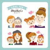 lyckliga mödrar för dag Arkivfoton