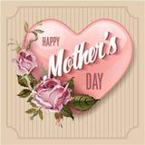lyckliga mödrar för dag Festlig vektorillustration för ferie Arkivfoto
