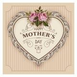 lyckliga mödrar för dag Festlig vektorillustration för ferie Arkivbilder