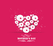 lyckliga mödrar för dag Min hjärta av mig Arkivfoto