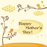lyckliga mödrar för kortdag Royaltyfri Fotografi