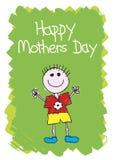 lyckliga mödrar för pojkedag Arkivfoton