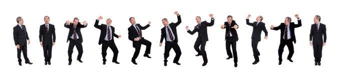 lyckliga män för affärsgrupp Arkivfoto